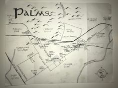 Ink map of Palms