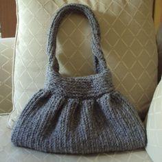 CROCHET PATTERN Knit-Look Crocheted Handbag - Pattern PDF. $4.99, via Etsy.
