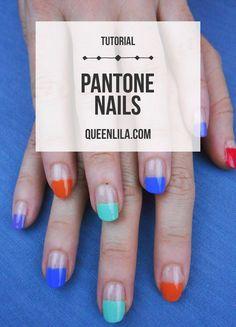 Pantone nails. Click