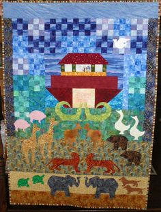 Noah's Ark Wall Hanging Quilt Pattern by FiFisFabricsAndFinds ... : noahs ark quilt - Adamdwight.com