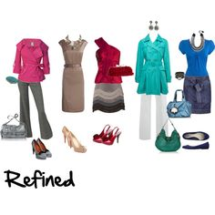 """Refined"" by imogenl on Polyvore ""Cool, Light, moderate chroma (Warm equivalent is Zesty)"" — xaraxia"