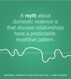 The idea that abuse follows a predictable cycle often creates victim-blaming. If domestic violence followed a predictable pattern it would be easier to prevent.  – via The National Domestic Violence Hotline