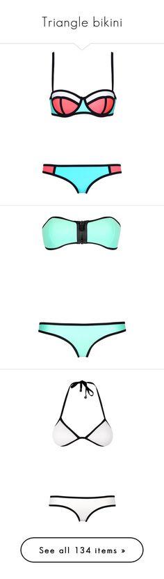 """Triangle bikini"" by ashley-jb ❤ liked on Polyvore featuring swimwear, bikinis, bikini, swimsuits, bathing suits, swim, triangle bikini top, neoprene bikini, swimsuits bikinis and swim suits"