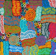 My Mother's Dreaming (BM-1004) by Betty Mbitjana http://merindahart.com.au/artists/betty-mbitjana
