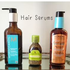 MoroccanOil (Left) or L'Oreal Eversleek (Right) Detangles, keeps hair shiny and ends hydrated in the dry desert.