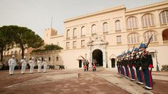 "Round the clock, these officers stand guard outside of the Prince's Palace of Monaco. See the stately Changing of the Guard each day at 11:55 a.m. The guards themselves are composed of an infantry division with 119 officers and sentry. Their motto: ""Honor, loyalty, devotion."""