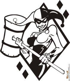 Calcomanía de Harley Quinn en vinilo de alta calidad, Larga duración a la intemperie. Envíos. Tarjetas. GraficasTuning.