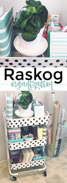 Raskog organization tips and tricks for a clean and organized craft room.