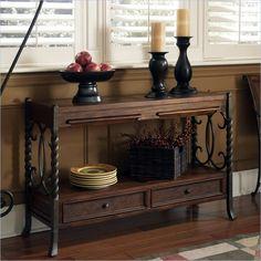 Riverside Furniture Medley Sofa Table in Camden / Wildwood Taupe - 45016