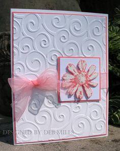 Abigail's wed. sample 2 by 88 keys - Cards and Paper Crafts at Splitcoaststampers (Petal Prints set, Cuttlebug folder)