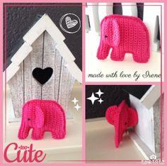 Klein olifantje haken gehaakt gehaakte olifant haakpatroon haak patroon gratis free crochet pattern elephant rattle toy baby