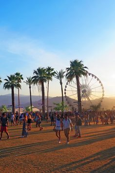 The festival grounds at golden hour. | H&M Loves Coachella