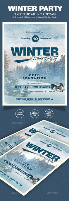 Apres Ski \/ Winter Party Flyer Winter parties, Party flyer and - holiday flyer template example 2