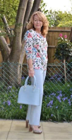 Celebrating Style Link up | Florals And Powder Blue