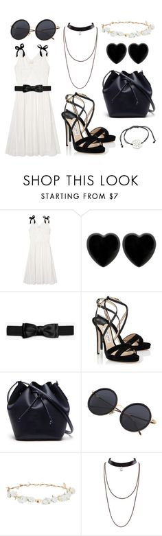 """""""Black and White"""" by fabulouschibicat ❤ liked on Polyvore featuring Band of Outsiders, Dollydagger, Jimmy Choo, Lacoste, Design Lab and Essentia By Love Lily Rose"""