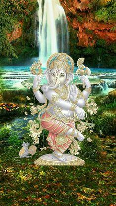 Jai Ganesh, Ganesh Lord, Ganesh Idol, Shree Ganesh, Ganesh Wallpaper, Lord Shiva Hd Wallpaper, Lord Vishnu Wallpapers, Ganesha Painting, Tanjore Painting