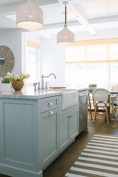 Island bench cabinetry colour and light shades