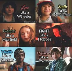 I Love like a Wheeler, Smile like a Henderson, Believe like a Byers, and Think like a Sinclaire