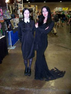 #TheAddamsFamily #Morticia & #Wednesday #TBCC2015 #scifi #comic convention