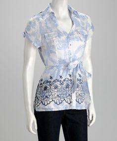 3da05bcfce3 I like it Blue Button Up Shirt