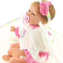 UCanaan 40-45 cm Silicone Renascer Baby Dolls Handmade Suave Toque Suave Realista Lifelike Boneca Reborn Toy O Melhor Presente para a Menina(China (Mainland))