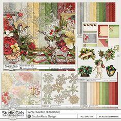 Alexis Design StudioWINTER GARDEN http://shop.scrapbookgraphics.com/Winter-Garden-Collection.html