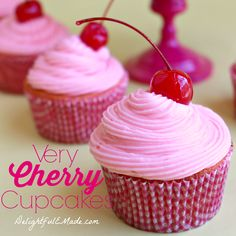 Very Cherry Cupcakes by DelightfulEMade