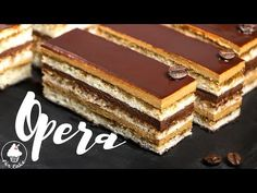 Торт ОПЕРА рецепт 【легендарная классика】 - YouTube Opera Cake, Chocolate Hearts, Confectionery, High Tea, Tiramisu, Cake Recipes, Bakery, Sweet Treats, Food And Drink