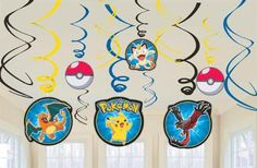 Pokemon Hanging Swirls