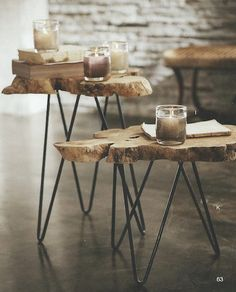Burl Slice Tables - For cakes or Cupcakes