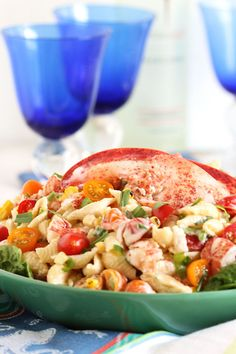 Lightly dressed in a lemon tarragon dressing, this salad is a great light lunch or an epic summer side dish. AND there's a LOBSTER giveaway!!!