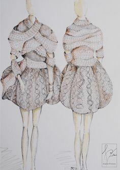 Avant Garde Knitwear. Caela Viviers