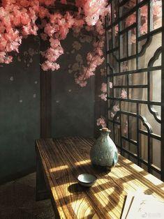 Aesthetic Japan, Japanese Aesthetic, Aesthetic Art, 3d Fantasy, Fantasy Landscape, Landscape Art, Asian Landscape, Casa Anime, Art Asiatique
