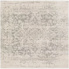 Produce an enticing and elegant appearance to your home with the selection of this durable Artistic Weavers Demeter Gray Square Area Rug. Grey Rugs, Beige Area Rugs, Vintage Lockers, Square Rugs, Oriental Pattern, Grey And Beige, Neutral Colour Palette, Diy On A Budget, Benjamin Moore