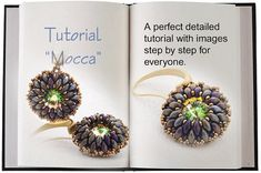 Jewelry tutorial .... Mocca... Earrings timeless by SeeBead, $4.50