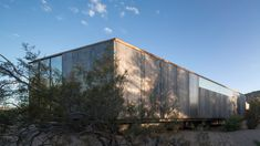 The studio is an extension to a contemporary home  and was designed to reflect the desert landscape.