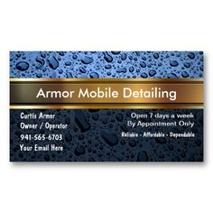 30 Best Auto Detailing Business Cards
