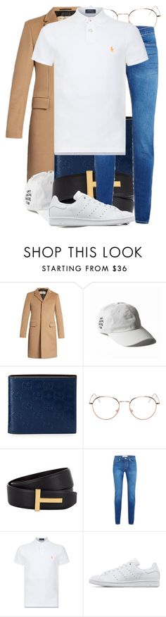 """""""Untitled #1529"""" by triskid ❤ liked on Polyvore featuring Burberry, Gucci, RetroSuperFuture, Tom Ford, Polo Ralph Lauren, adidas Originals, men's fashion and menswear"""