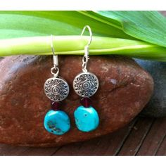 Turquoise and Garnet Earrings - $59.00 The 7 day sale with 9th & Elm begins! Officially the sale starts in a couple of hours. Here's a preview where you can order before the sale goes live!