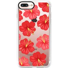 Hawaiian Hibiscus Red Flowers - iPhone 7 Plus Case And Cover