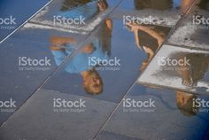 People Reflections in Wet Concrete royalty-free stock photo Kiwiana, Image Now, Concrete, Reflection, Royalty Free Stock Photos, Lifestyle, People, Photography, Photograph