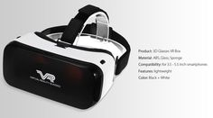 Lightweight Virtual Reality 3D VR Glasses for 3.5 - 5.5 inch Smartphone  -  WHIT #UnbrandedGeneric