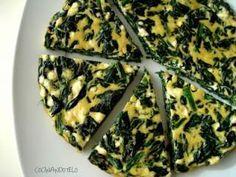 Tortilla al horno con espinacas y queso