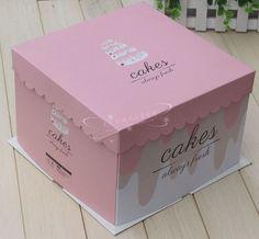 6寸方形三件套粉色經典/方形生日蛋糕盒/西點包裝盒/紙質蛋糕盒