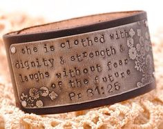 Love the bible verse on this leather bracelet