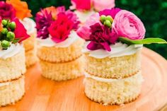 How to Make Mini Naked Cakes Entertaining Ideas Party Themes for Every Occasion HGTV Click the image for more info. Spring Desserts, Mini Desserts, Tea Cakes, Cupcake Cakes, Cupcakes, Bundt Cakes, Color Melon, Nake Cake, Cake Recipes