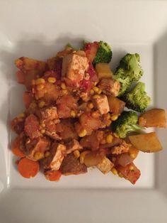 Tofu & Potato Goulash  #Vegan #Vegetarian #DairyFree #Recipe #Dinner #Homemade #Cook #VeganRecipe #VeganDinner #Tofu #Potatoes #Blog #Blogger #BlogPost #BellinisToBlooms #VegaTable #VegaTableRI