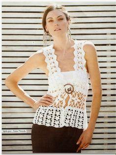 Chaleco Tirantes Cuadrados Crochet - Patrones Crochet