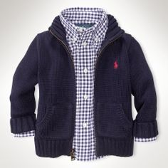 Intarsia Flag Full-Zip Sweater - Infant Boys Sweaters - RalphLauren.com