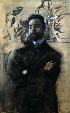 Михаил Врубель - Портрет В.Я. Брюсова, 1906